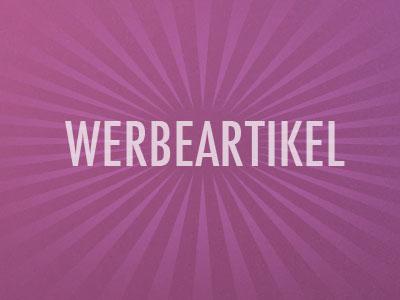 WERBEARTIKEL